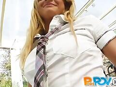 18 year old innocent school girl lets me jizz on her