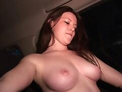 18 year old masturbating with french frieds in backseat of